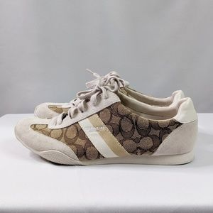 Coach Shoes - Coach Kelson Lace Up Suede Sneakers 9.5 EUC